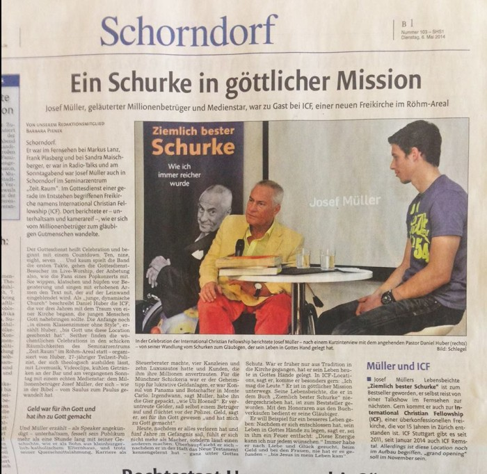 ICF Schorndorf Zeitungsartikel 6.5.14