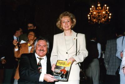 Frau Karin Stoiber und Josef Müller anläßlich des Empfanges 1996 von Min.Präs. Dr. Edmund Stoiber  im Kaisersaal der Residenz in München