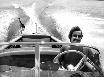 Josefs erstes schnelles Boot, die «Riva Florida» auf dem Gardasee