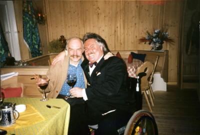 Charles Brauer und Josef Müller nach einem wunderbaren Abendessen in München