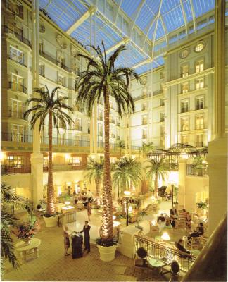 Der Frühstücksraum des Hotels «The Landmark» in London. Hier traf sich Josef mit Mobutus Sohn. Dieses Hotel war eine Art «Fluchtburg» für Josef.
